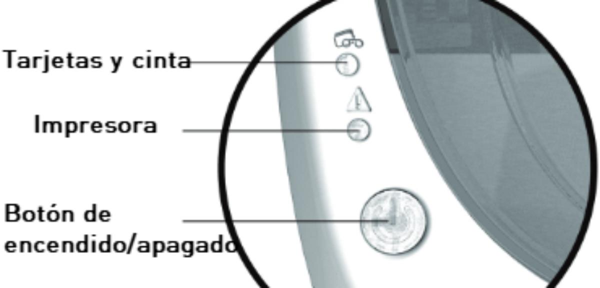 Significado de los LEDs de la impresora Badgy