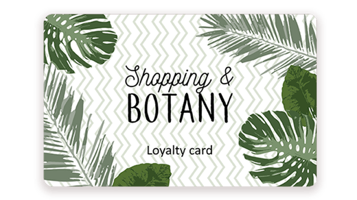 Loyalty card printed with Badgy